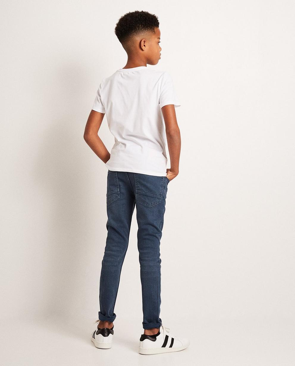 Jeans - Navy - Skinny jeans met wassing